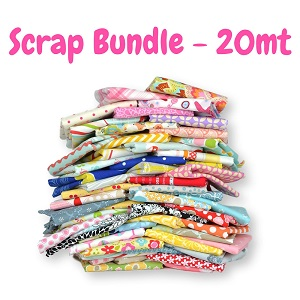 Fabric Scrap Bag - 20 METRE BUNDLE